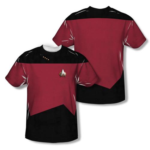 Image Closeup for Star Trek Sublimated T-Shirt - TNG Command Uniform