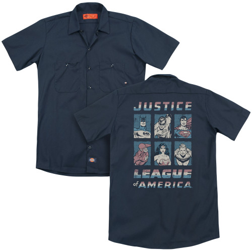 Image for Justice League of America Dickies Work Shirt - American League