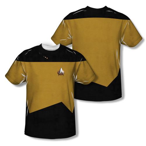 Image Closeup for Star Trek Sublimated T-Shirt - TNG Engineering Uniform