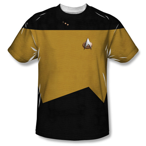 Image for Star Trek Sublimated Youth T-Shirt - TNG Engineering Uniform 100% Polyester