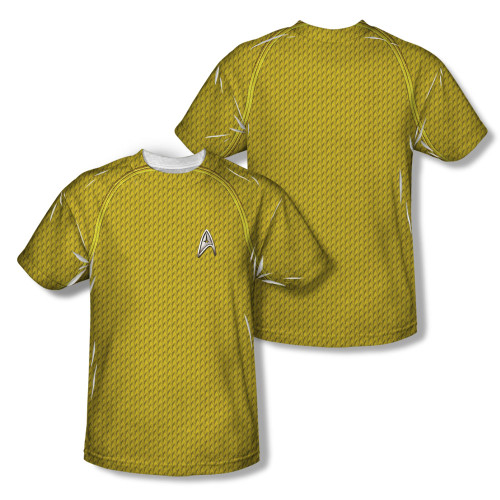 Image Closeup for Star Trek Sublimated T-Shirt - New Movie Command Uniform