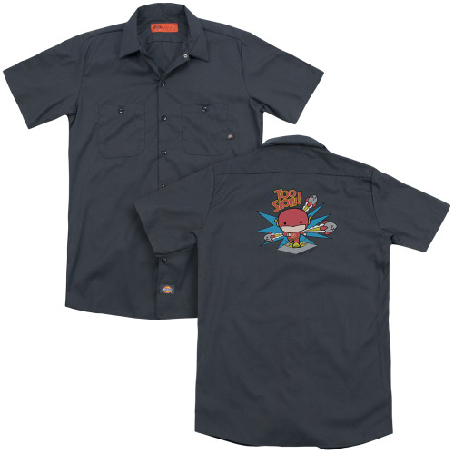 Image for Justice League of America Dickies Work Shirt - Flash Too Slow