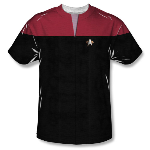 Image for Star Trek Sublimated Youth T-Shirt - Voyager Command Uniform 100% Polyester