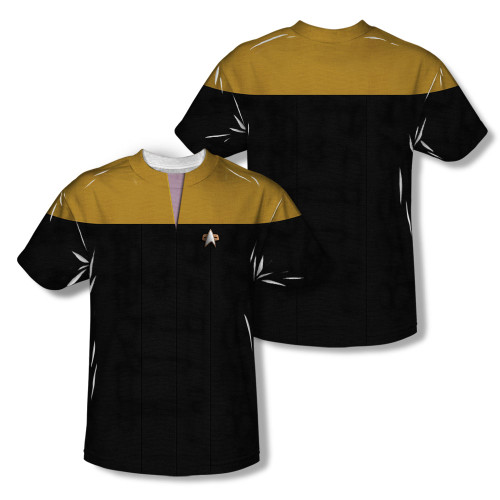 Image Closeup for Star Trek Sublimated T-Shirt - Voyager Engineering Uniform