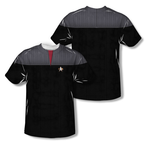 Image Closeup for Star Trek Sublimated T-Shirt - TNG Movie Command Uniform
