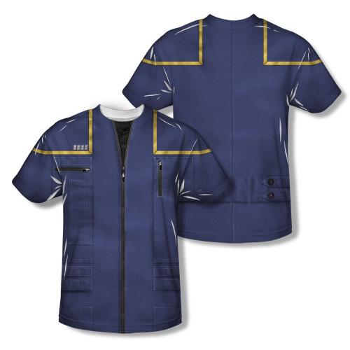 Image Closeup for Star Trek Sublimated T-Shirt - Enterprise Command Uniform