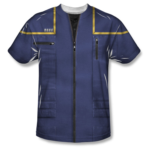 Image for Star Trek Sublimated Youth T-Shirt - Enterprise Command Uniform 100% Polyester
