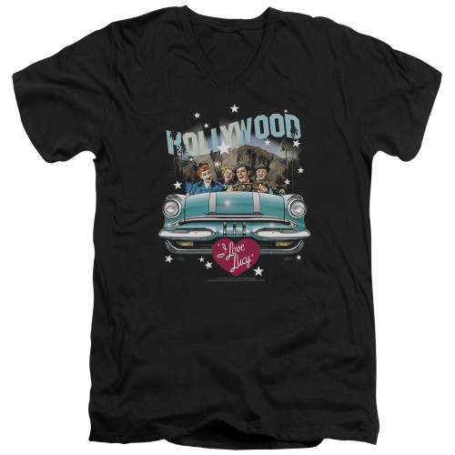 Image for I Love Lucy T-Shirt - V Neck - Hollywood Road Trip