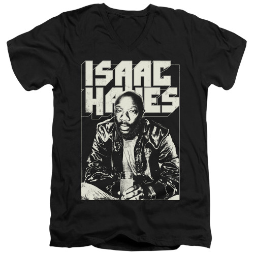 Image for Isaac Hayes V Neck T-Shirt - Lean In