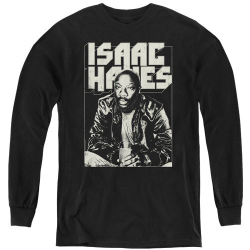 Image for Isaac Hayes Youth Long Sleeve T-Shirt - Lean In
