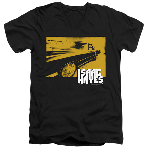 Image for Isaac Hayes V Neck T-Shirt - Gold Cadillac