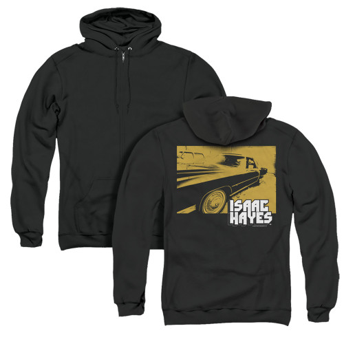 Image for Isaac Hayes Zip Up Back Print Hoodie - Gold Cadillac