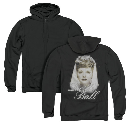 Image for Lucille Ball Zip Up Back Print Hoodie - Glowing
