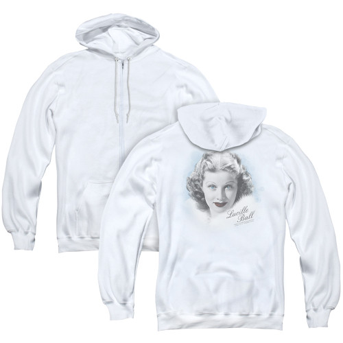 Image for Lucille Ball Zip Up Back Print Hoodie - In Blue