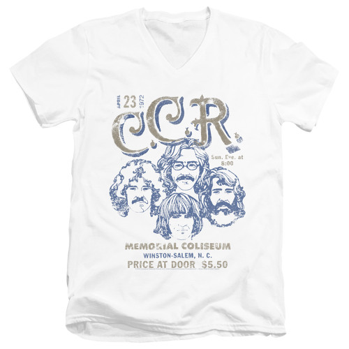 Image for Creedence Clearwater Revival V Neck T-Shirt - Sketch Poster