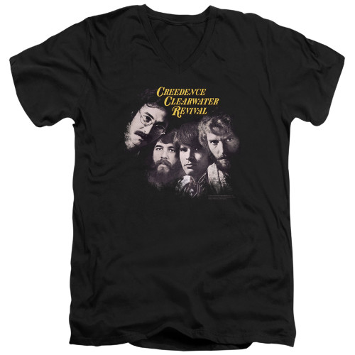 Image for Creedence Clearwater Revival V Neck T-Shirt - Pendulum Faces