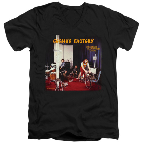 Image for Creedence Clearwater Revival V Neck T-Shirt - Cosmos Factory Ablum