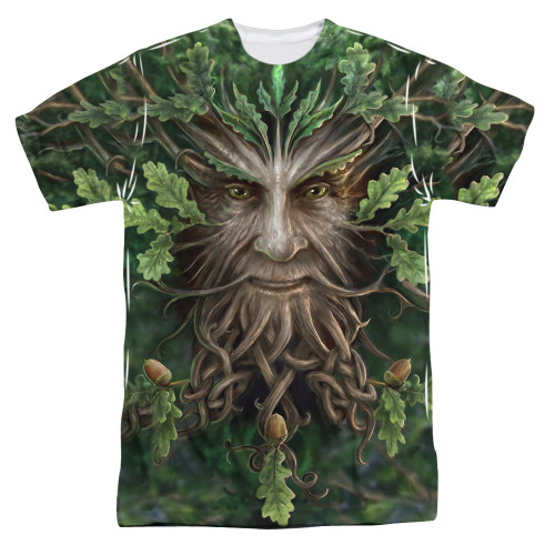 Image for Anne Stokes Sublimated T-Shirt - Oak King 100% Polyester