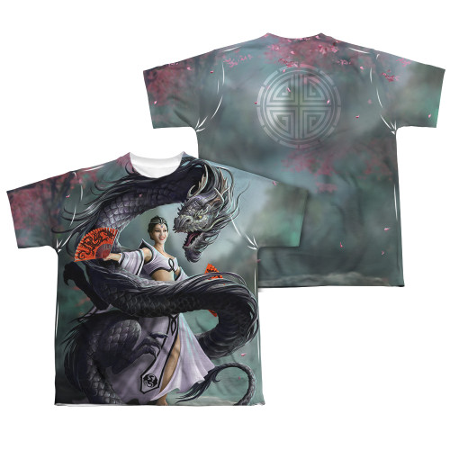 Image Closeup for Anne Stokes Sublimated Youth T-Shirt - Dragon Dancer