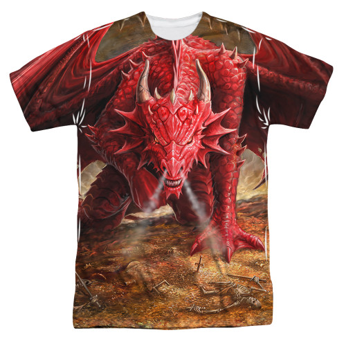 Image for Anne Stokes Sublimated T-Shirt - Dragon's Lair 100% Polyester