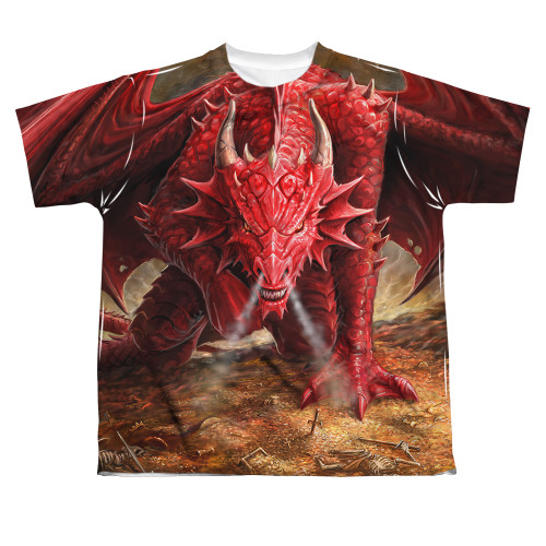 Image for Anne Stokes Sublimated Youth T-Shirt - Dragon's Lair 100% Polyester