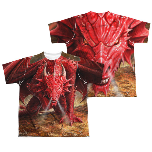 Image Closeup for Anne Stokes Sublimated Youth T-Shirt - Dragon's Lair