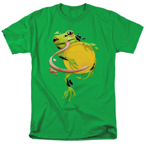 Image for Play Doh T-Shirt - Frog Hugging Play Doh Lid
