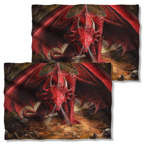 Image Closeup for Anne Stokes Pillow Case - Dragon's Lair