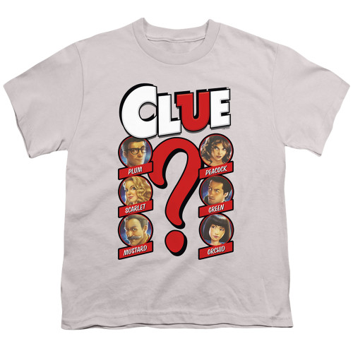 Image for Clue Youth T-Shirt - Modern Whodunnit