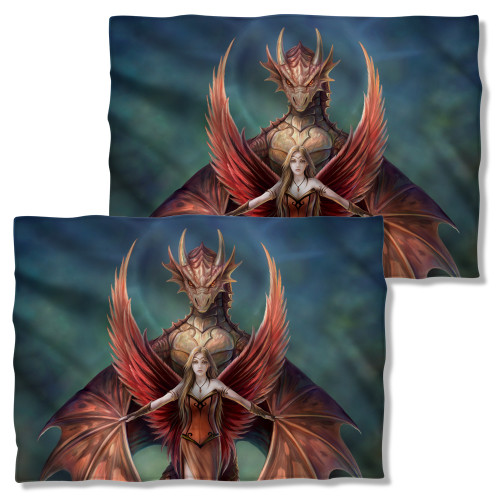 Image Closeup for Anne Stokes Pillow Case - Copperwing