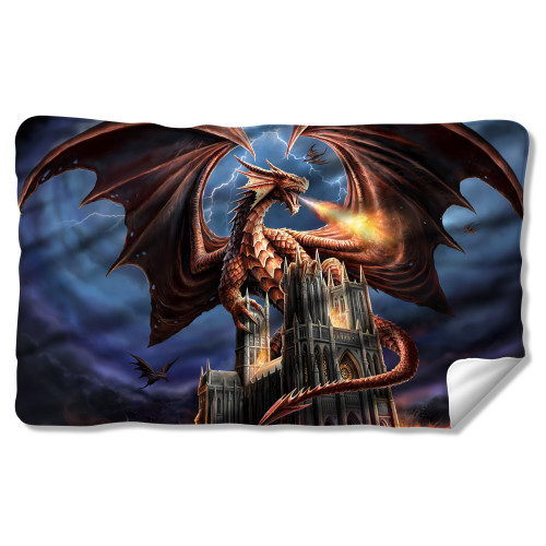 Image for Anne Stokes Fleece Blanket - Dragon's Fury