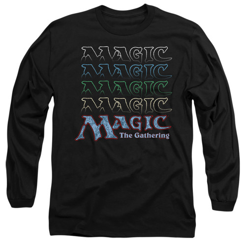 Image for Magic the Gathering Long Sleeve T-Shirt - Retro Logo Repeat