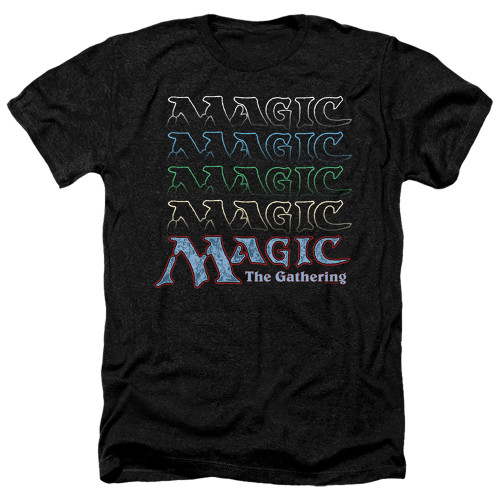 Image for Magic the Gathering Heather T-Shirt - Retro Logo Repeat