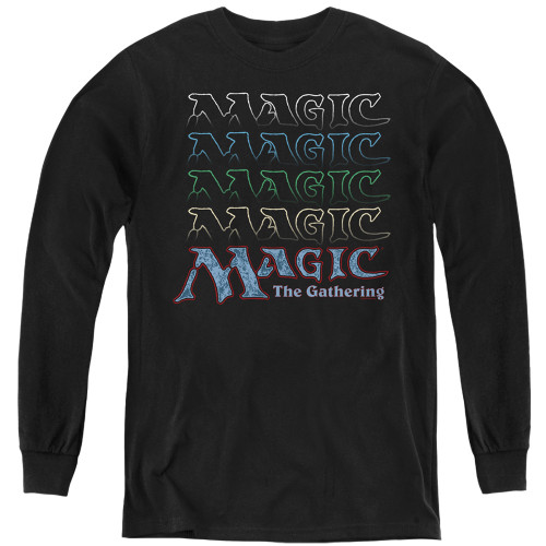 Image for Magic the Gathering Youth Long Sleeve T-Shirt - Retro Logo Repeat
