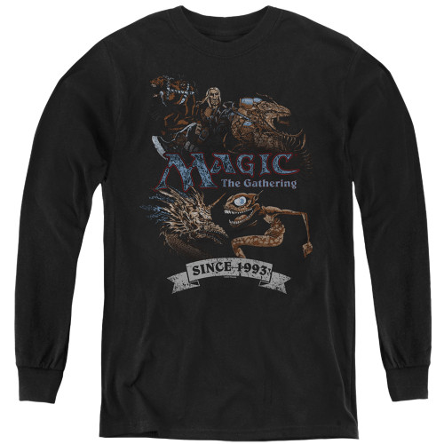 Image for Magic the Gathering Youth Long Sleeve T-Shirt - Four Pack Retro