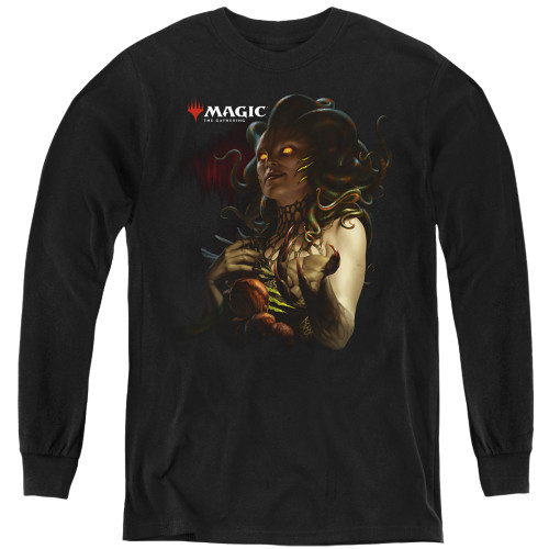 Image for Magic the Gathering Youth Long Sleeve T-Shirt - Raska Queen of Golgari