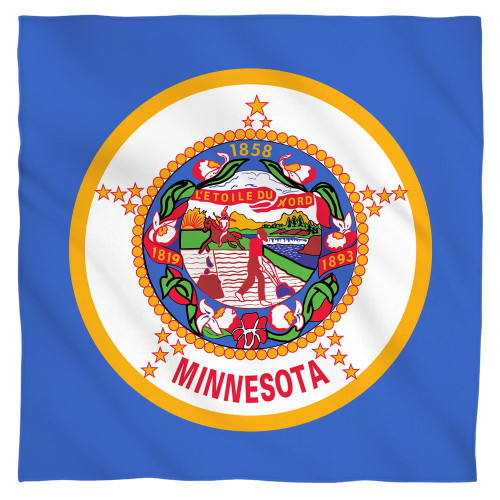 Image for Minnesota Flag Face Bandana -