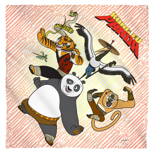Image for Kung Fu Panda Face Bandana -Kung Fu Group