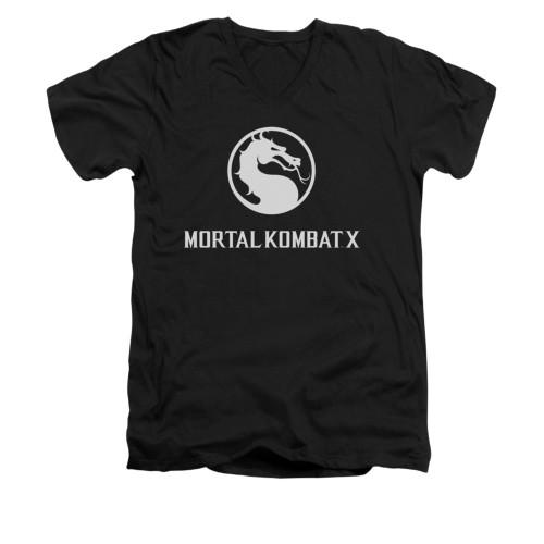 Image for Mortal Kombat X V-Neck T-Shirt - Dragon Logo