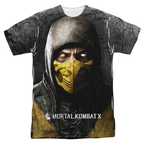 Image for Mortal Kombat Sublimated T-Shirt - Finish Him 100% Polyester