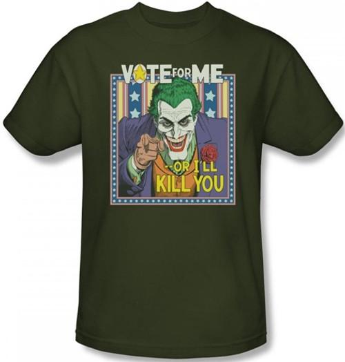 Image Closeup for Batman T-Shirt - Dark Detective #1 Joker Vote for Me