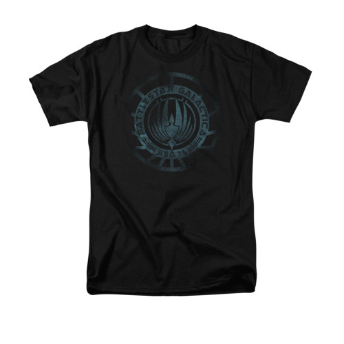 Image for Battlestar Galactica T-Shirt - Faded Emblem