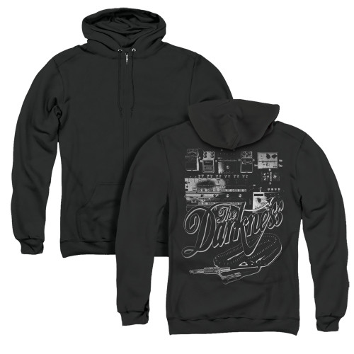 Image for The Darkness Zip Up Back Print Hoodie - Pedal Board