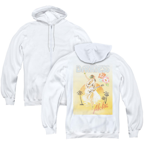 Image for The Darkness Zip Up Back Print Hoodie - Aloha