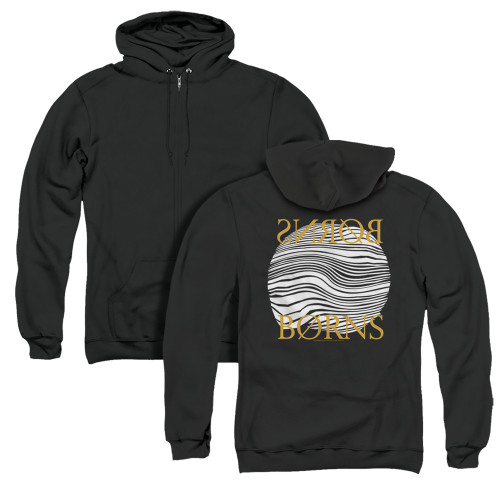 Image for Borns Zip Up Back Print Hoodie - Thumbprint