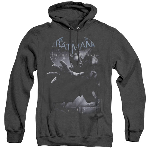 Image for Batman Arkham Origins Heather Hoodie - Out Of The Shadows