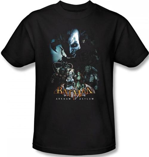 Image Closeup for Batman T-Shirt - Arkham Asylum Five Against One