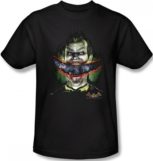 Image Closeup for Batman T-Shirt - Arkham Asylum Crazy Lips