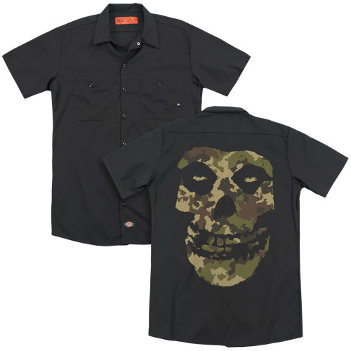 Image for The Misfits Dickies Work Shirt - Camo Skull