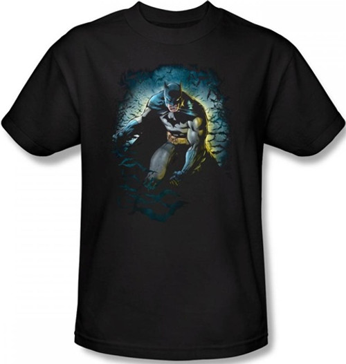 Image Closeup for Batman T-Shirt - Bat Cave